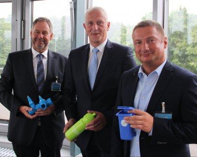 Tag der Daseinsvorsorge 2018 mit (von links): Arno Seebeck, Christian Meyer-Hammerström und Christof von Schroetter